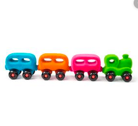 Rubbabu 3 Plus Train with Magnetic Coaches