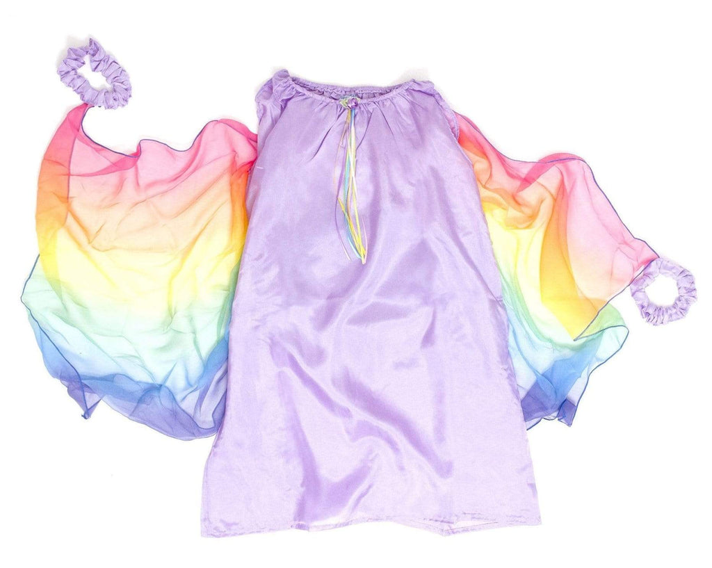 Sarah's Silks 3 Plus Fairy Dress - Lavender/ Rainbow