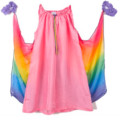 Sarah's Silks 3 Plus Fairy Dress - Pink Rainbow