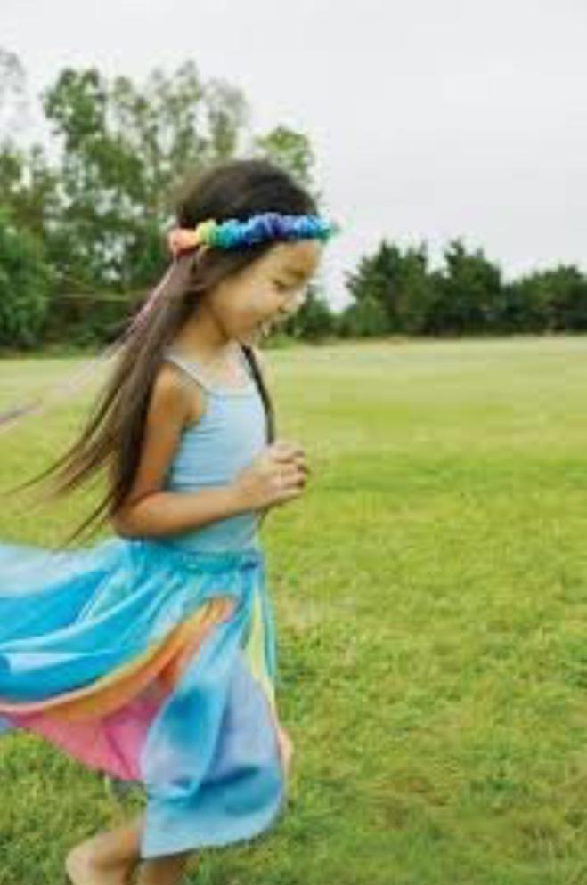Sarah's Silks 3 Plus Fairy Skirt - Blue / Rainbow