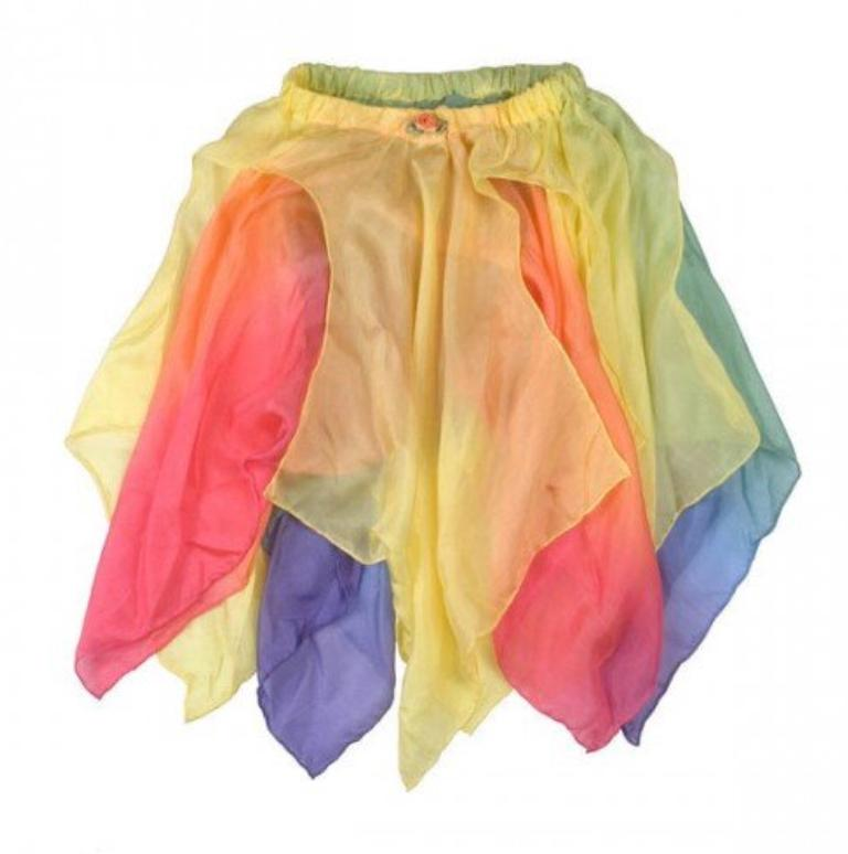 Sarah's Silks 3 Plus Fairy Skirt - Yellow/ Rainbow