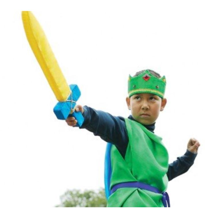 Sarah's Silks 3 Plus Knight Costume - Green/Blue