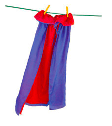 Sarah's Silks 3 Plus Reversible Cape - Red/Blue