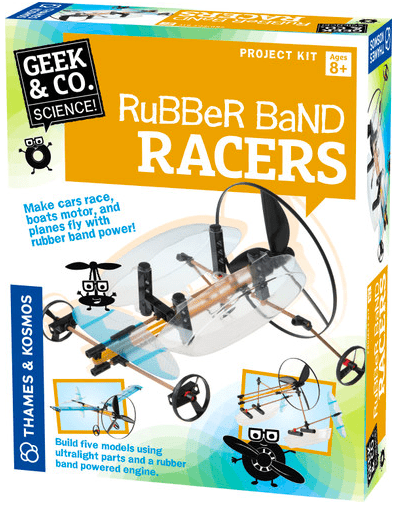 Science and Nature 8 Plus Rubber Band Racers