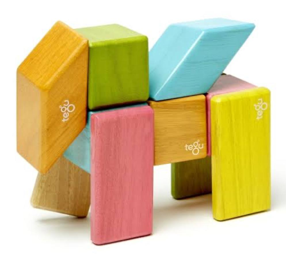 Tegu 12 Mths Plus Magnet Blocks 24 Tints