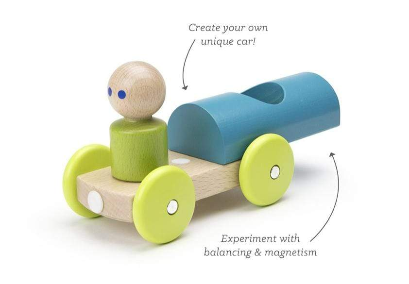 Tegu 12 Mths Plus Magnetic Racer - Teal