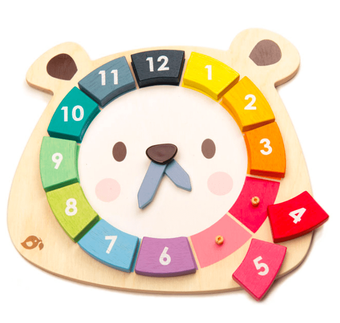 Tender Leaf Toys 3 Plus Bear Colours Clock