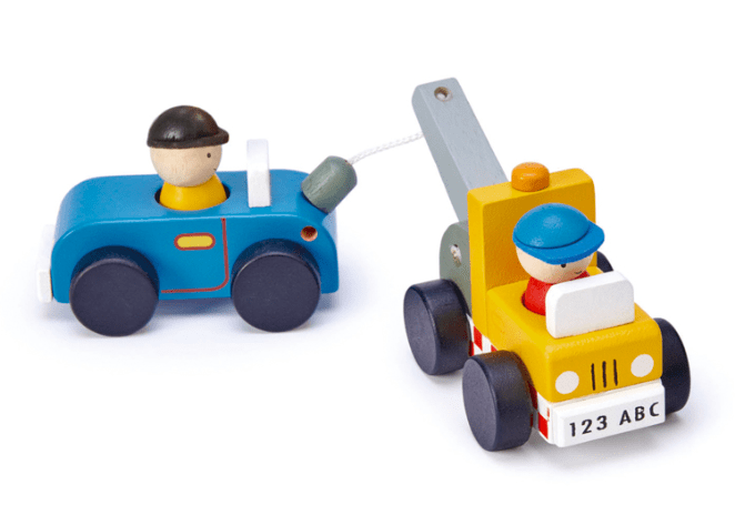 Tender Leaf Toys 3 Plus Tow Truck
