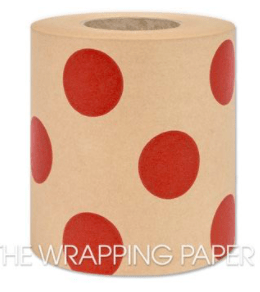 The Wrapping Paper Company Belli Band Belli Band - Large Red Dot Kraft