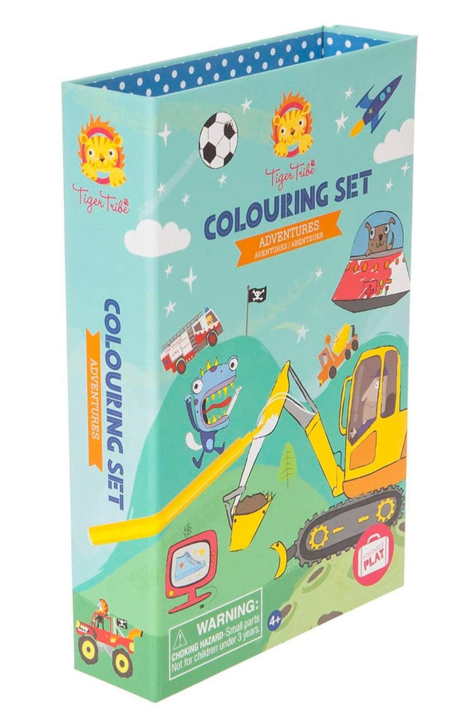 Tiger Tribe 2 to 3 Years Colouring Set - Adventures
