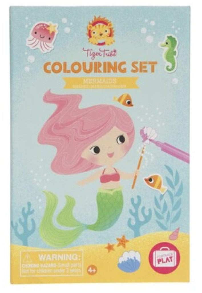 Tiger Tribe 2 to 3 Years Colouring Set - Mermaids