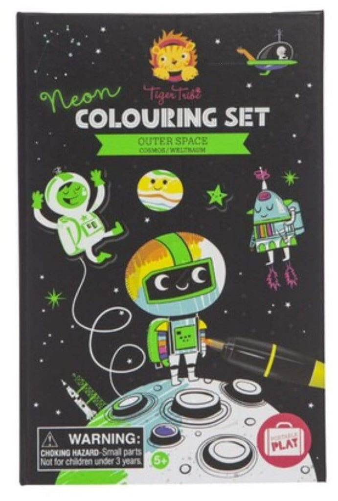 Tiger Tribe 2 to 3 Years Colouring Set - Outer Space