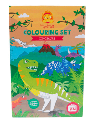 Tiger Tribe 3 Plus Colouring Set - Dinosaur