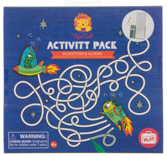 Tiger Tribe 4 Plus Activity Pack - Monsters & Aliens