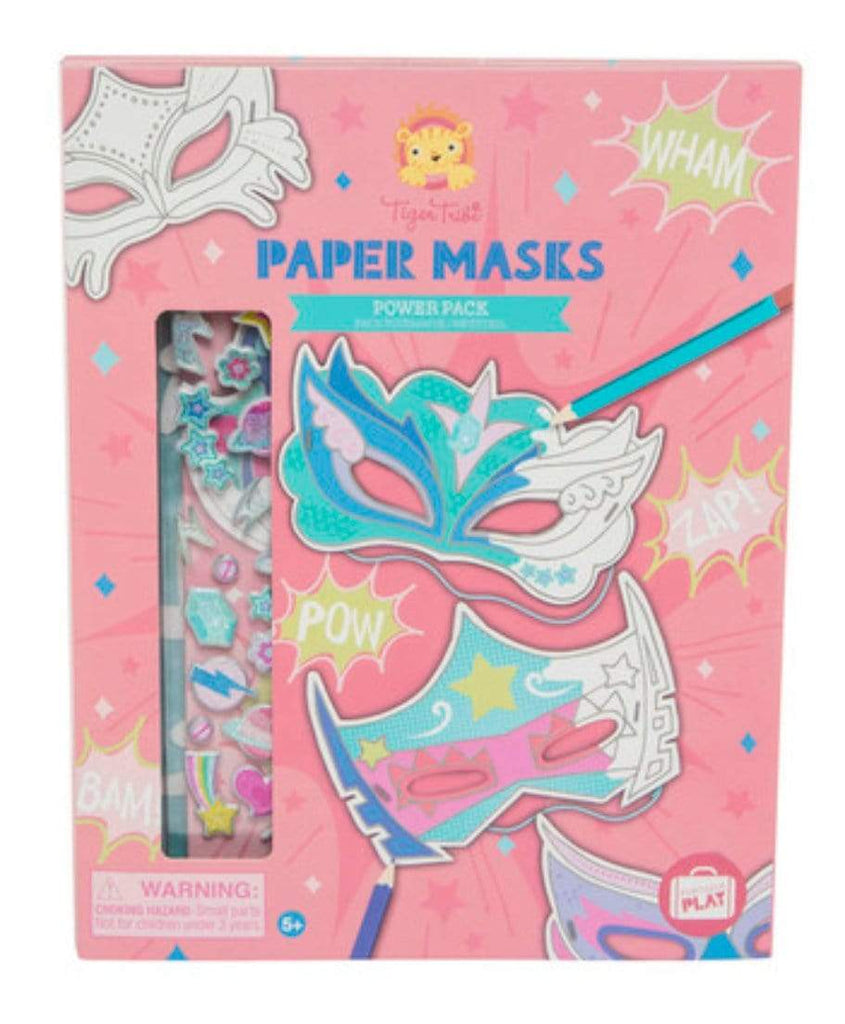 Tiger Tribe 4 Plus Paper Masks - Power Pack