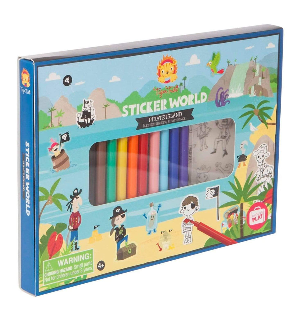 Tiger Tribe 4 Plus Sticker World - Pirate Island