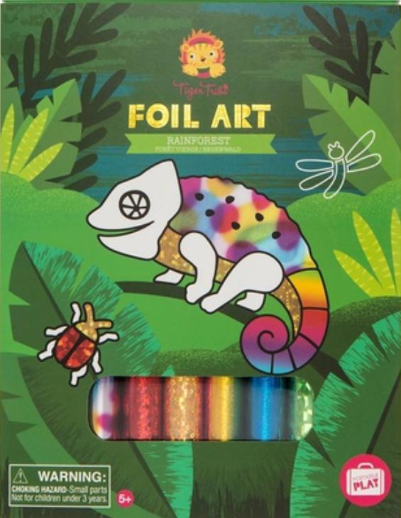 Tiger Tribe 4 to 5 Years Foil Art - Rainforest