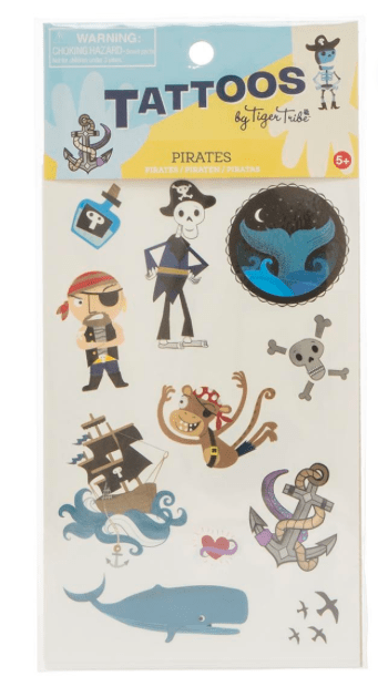 Tiger Tribe 5 Plus Tattoos - Pirates