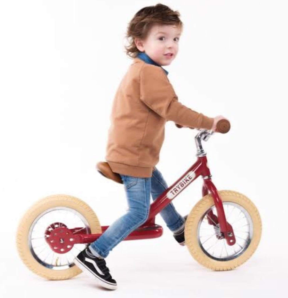 TryBike 18 Mths Plus Steel 4 in 1 Trybike - Red