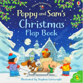 Usborne Child Fiction 3 Plus Poppy and Sam's Lift the Flap Christmas - Sam Taplin