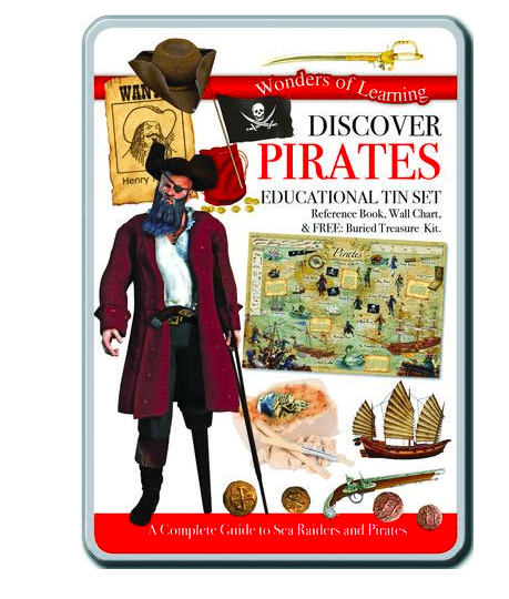 Wonders of Learning 5 Plus Discover Pirates Tin