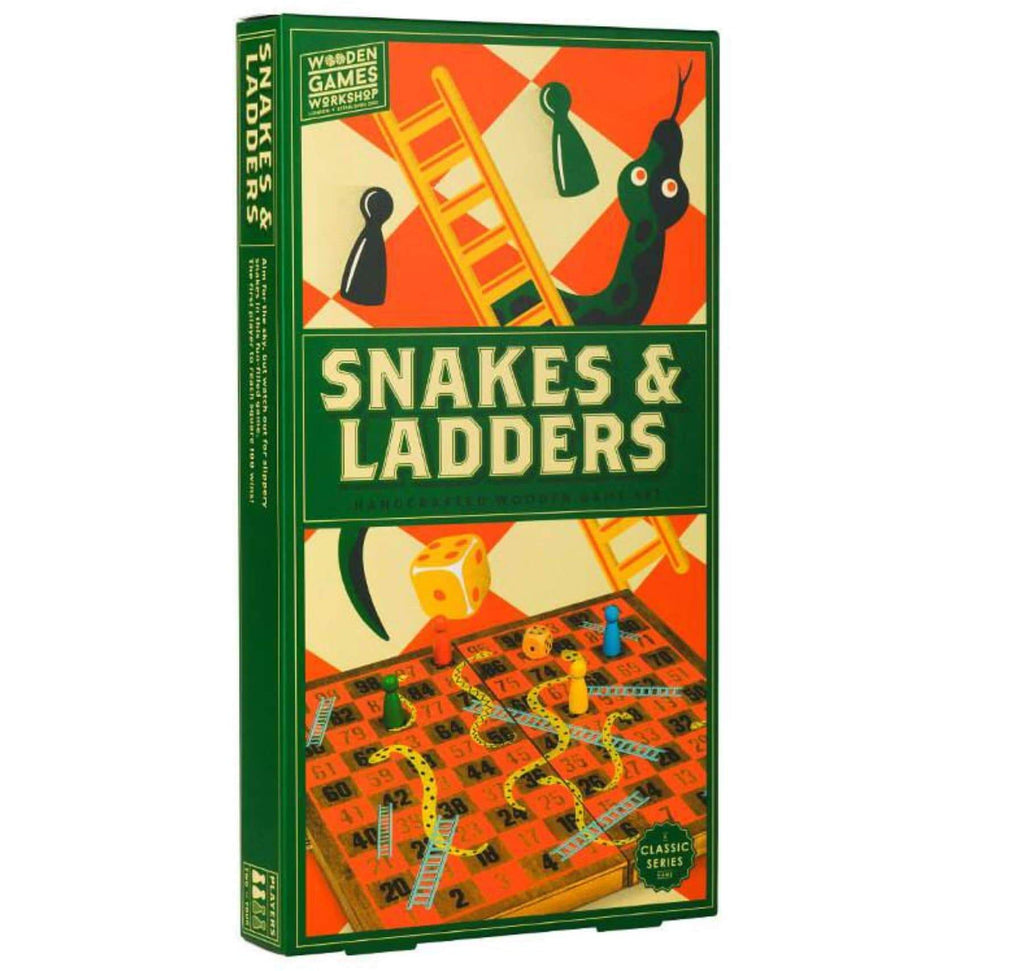 Wooden Games Workshop 5 Plus Snakes & Ladders