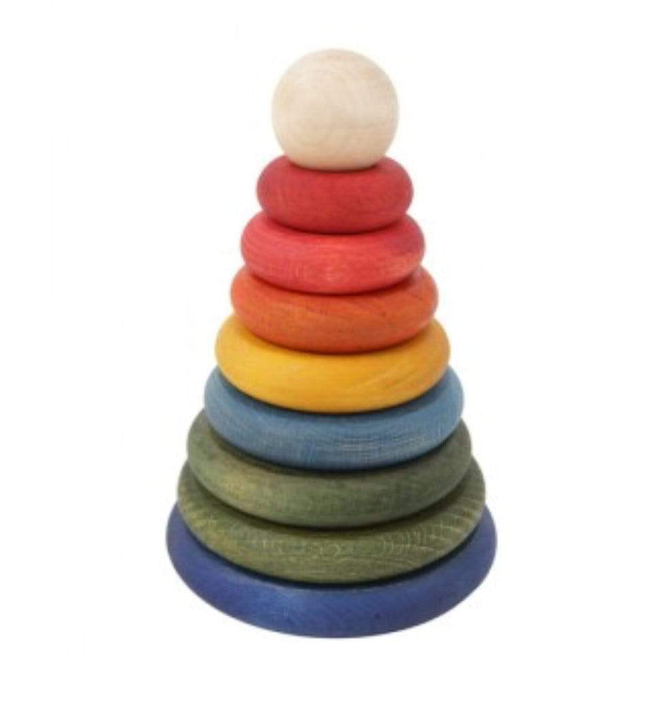 Wooden Story 12 Mths Plus Rainbow Round Stacker