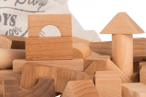 Wooden Story 2 Plus Natural Blocks in Wooden Box - 30 Pieces