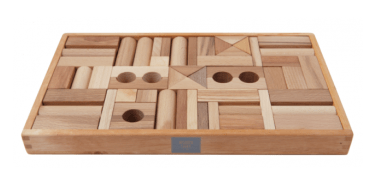 Wooden Story 2 to 3 Years Natural Blocks in Wooden Box - 54 Pieces