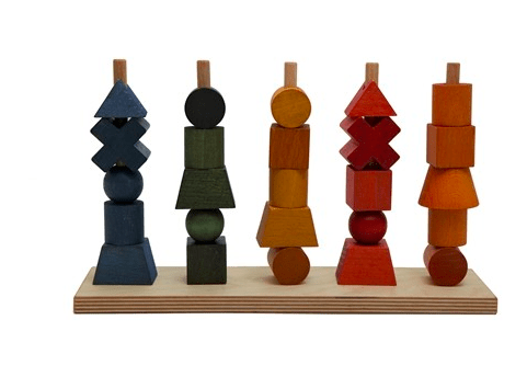 Wooden Story 3 Plus Rainbow Stacking Toy