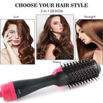 2-in-1 Curl  Straight Dual-use Hair Dryer Styling Comb