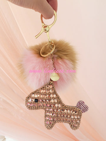 ROSE GOLD LUCKY CRYSTAL HORSE