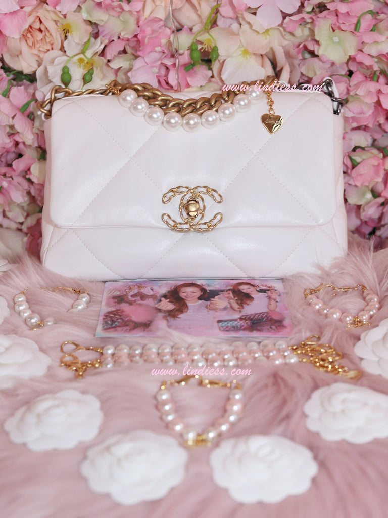 PEARL LOVE BAG CHARM CHAIN