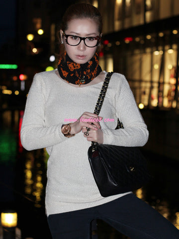 WARM GLITTER SWEATER - WHITE