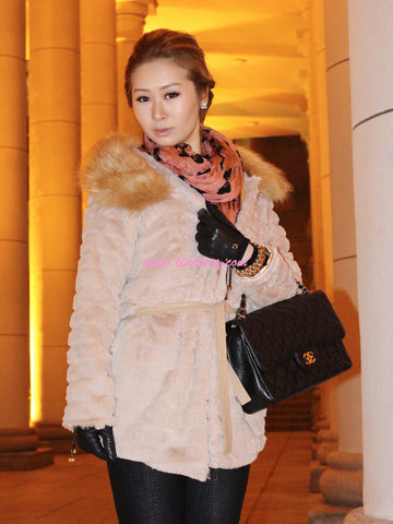 SWEETHEART ROYAL FUR JACKET - ROSE