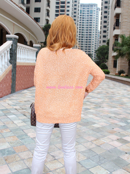 PEACH OVERSIZE WOOL BLOUSE