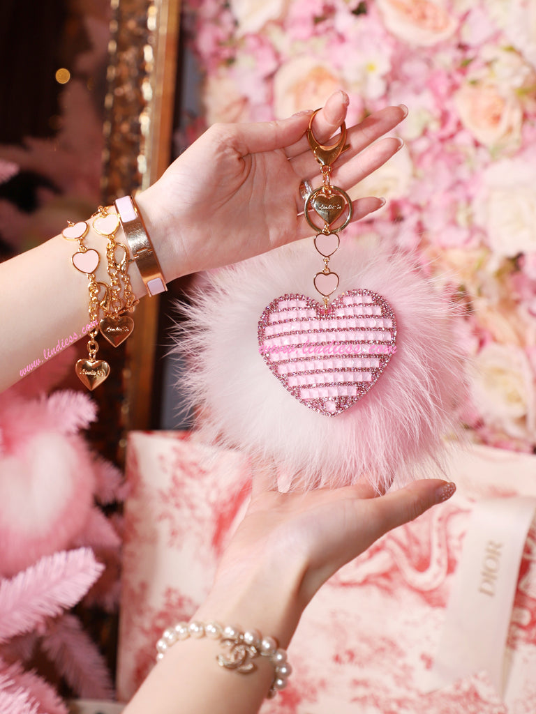 PRINCESS CRYSTAL HEART POM POM