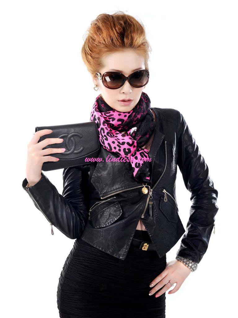 SILK & LACE LEOPARD - HOT PINK