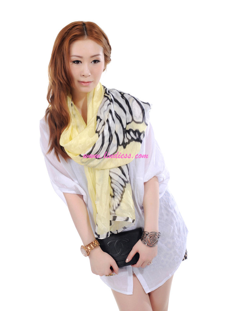 SILK ZEBRAS - PASTEL YELLOW
