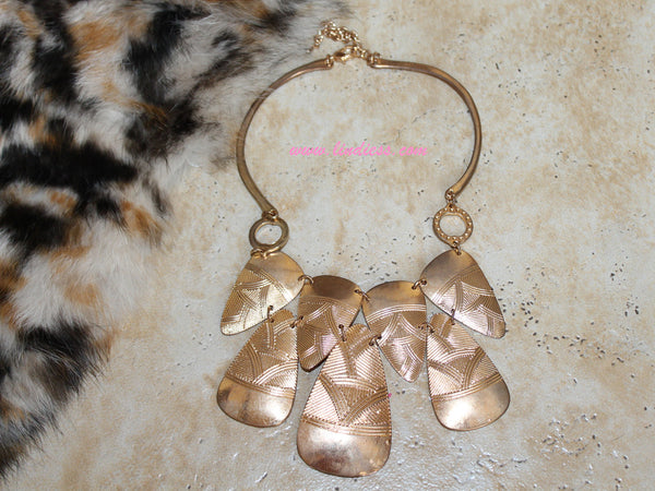 VINTAGE GOLD LEAFS NECKLACE