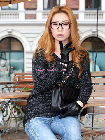 WARM GLITTER SWEATER - BLACK