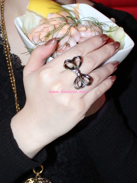 VINTAGE CUTE BOW RING