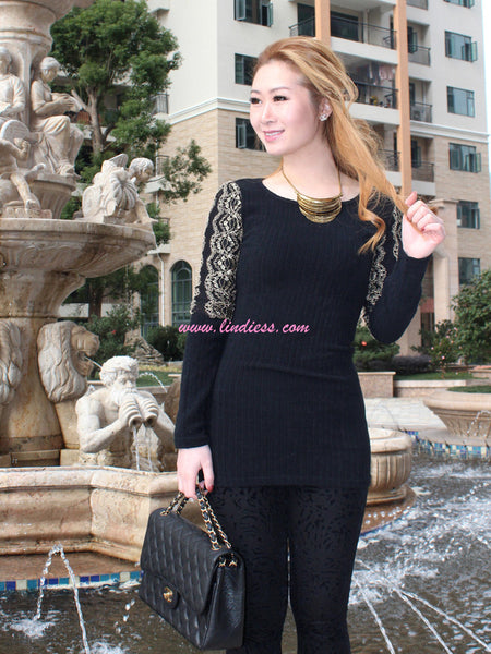ROYALTY GOLD GLAM BLOUSE