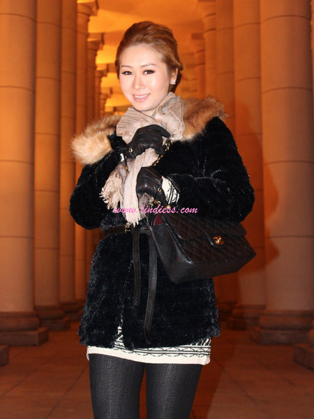 SWEETHEART ROYAL FUR JACKET - BLACK