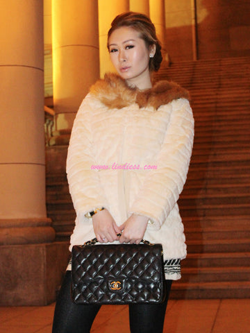 SWEET HEART ROYAL FUR JACKET - CREAM