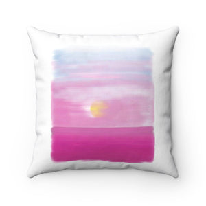 Spun Polyester Square Pillow-Sunset