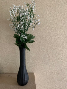 Modern Glass Vase with Ceramic Finish