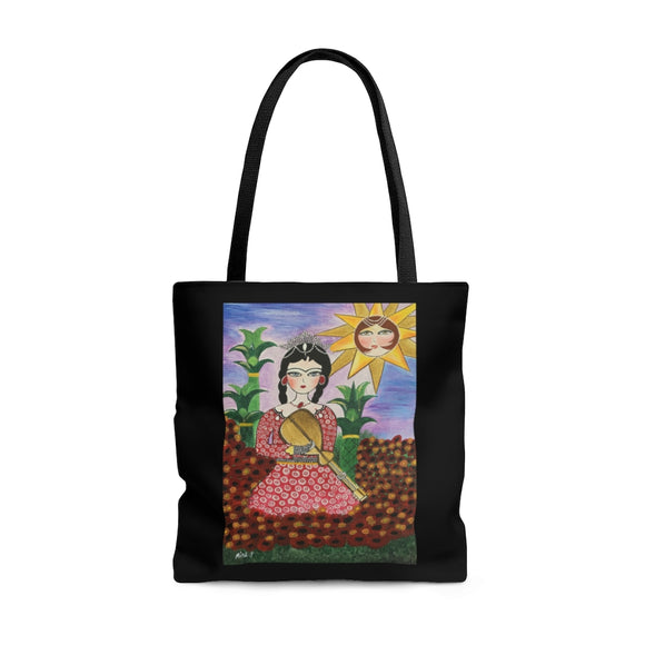 AOP Tote Bag- Red Dress
