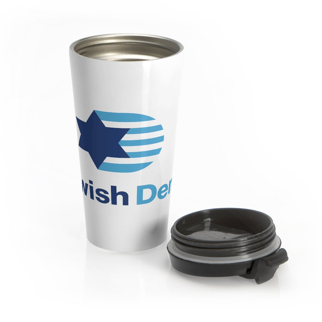 Jewish Dems Stainless Steel Travel Mug