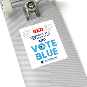Red White and Vote Blue Sticker